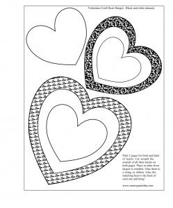 free printable valentines craft valentines hanging hearts activity