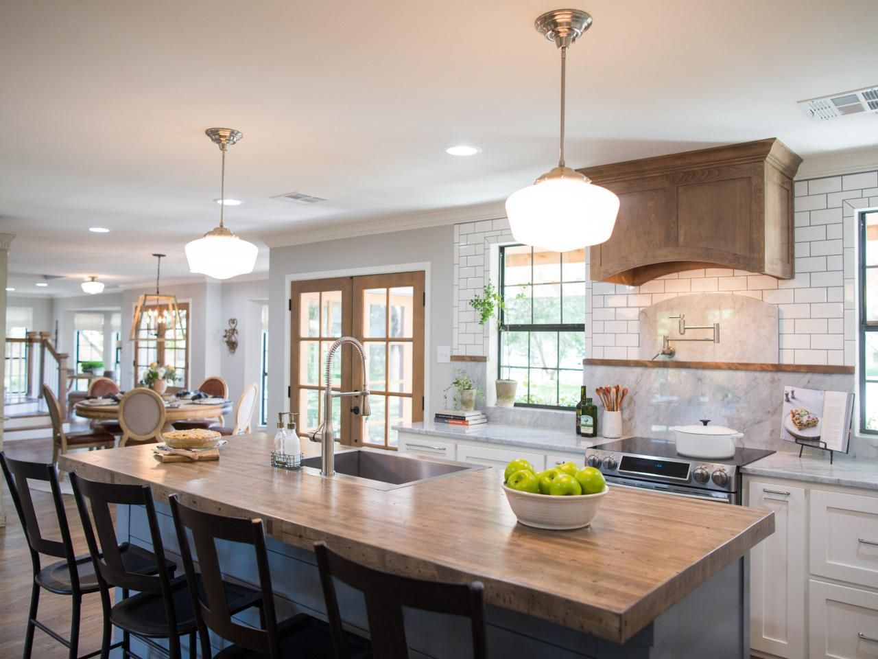 the most memorable kitchens by chip and joanna gaines in 2020 joanna gaines kitchen fixer on kitchen layout ideas with island joanna gaines id=21975