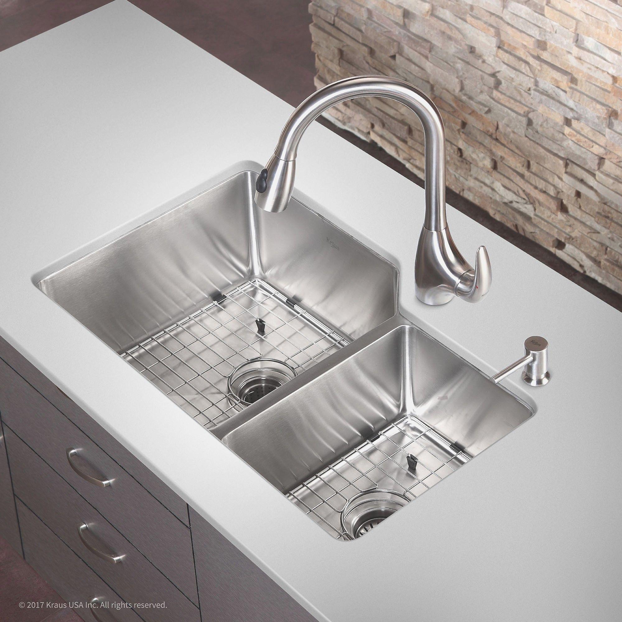 Stainless Steel Undermount Kitchen Sink - 36 inch undermount ...