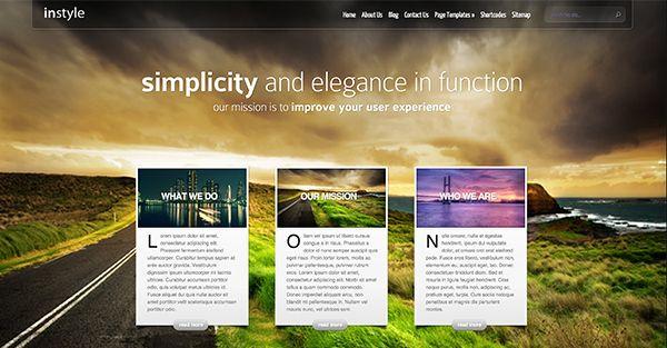 InStyle Elegant Wordpress theme free download - http ...