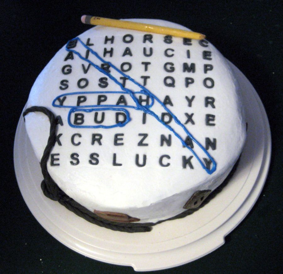 Word Search Birthday Cake My Dad Loves Word Search Puzzles So I - Words on cake for birthday