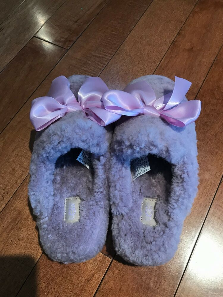 221b7f4cc8d BRAND NEW NEVER WORN purple UGG addison velvet slippers with bows ...