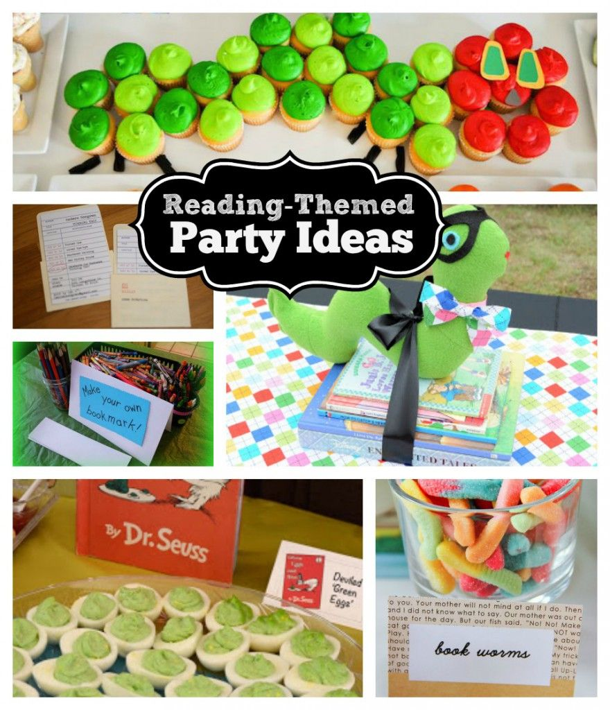 Kids Party Ideas Reading And Bookworm Party Themes Family Essentials Blog Book Themed Party Bookworm Party Book Birthday Parties