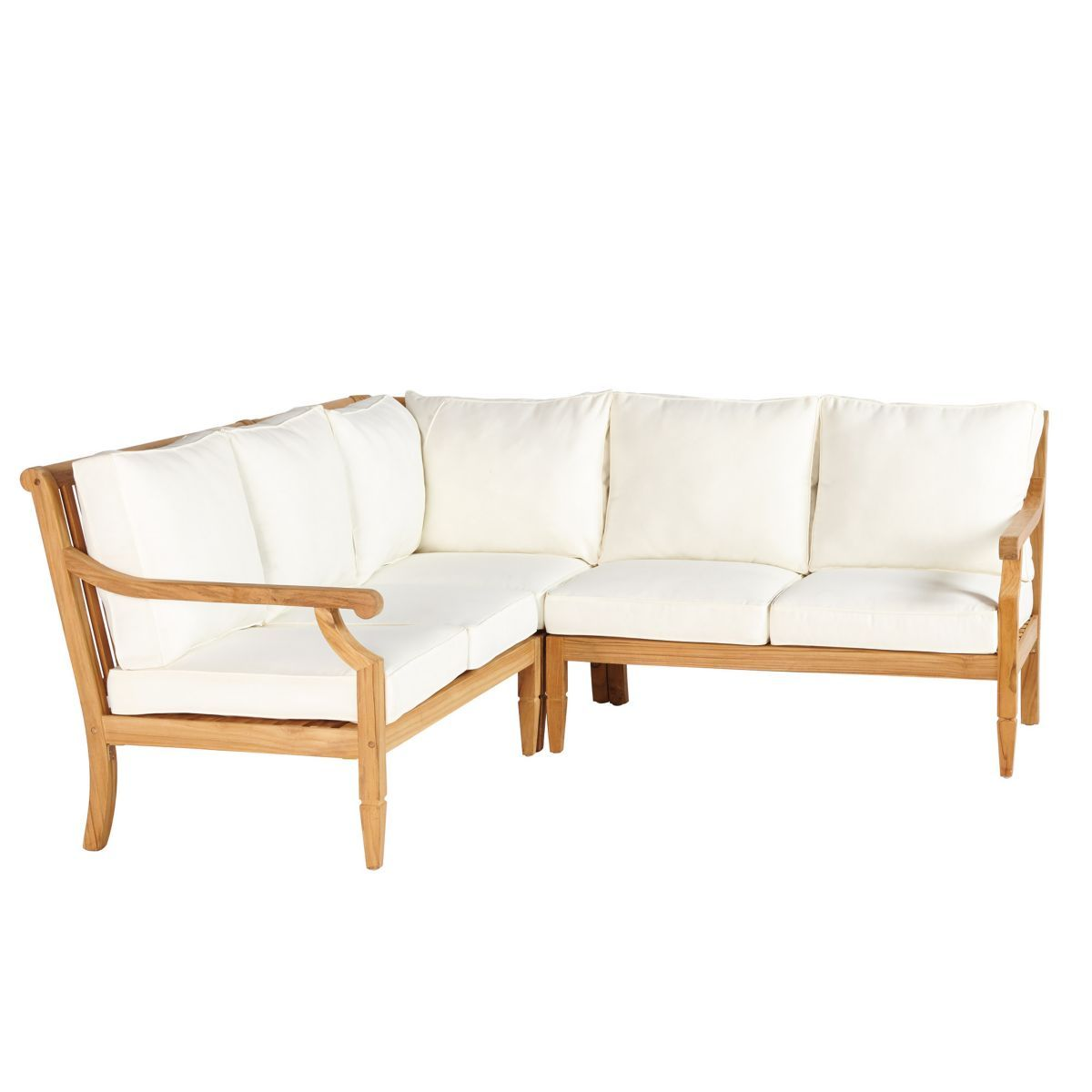 Patio Furniture Repair Madison Wi: Madison Teak 3-Piece Sectional
