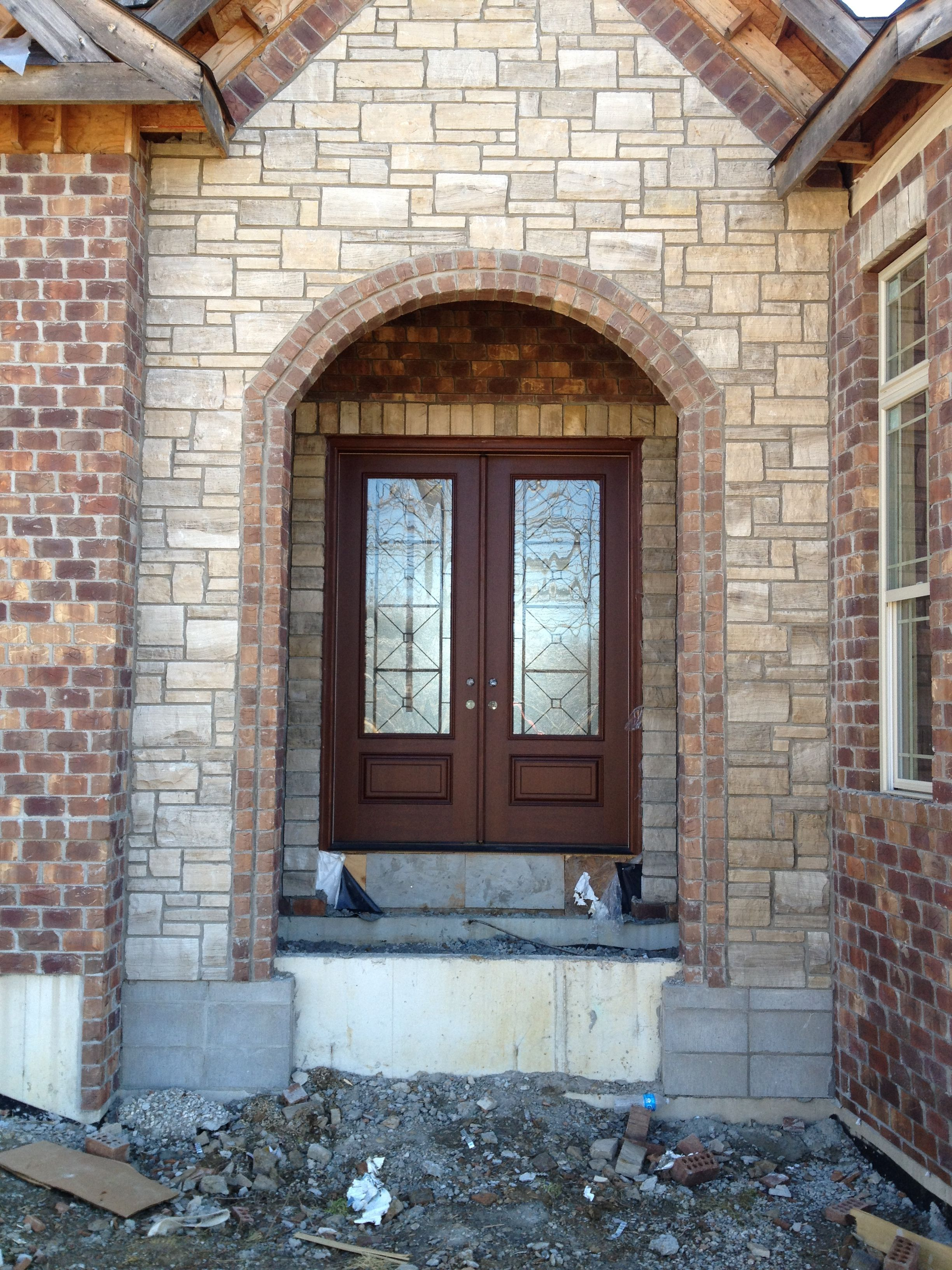 Pre Finished Double French Masonite Door With Quattro Glass