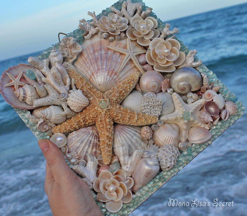 Beach Wedding Decor Mosaic Seashell Starfish by MonaLisasSecret