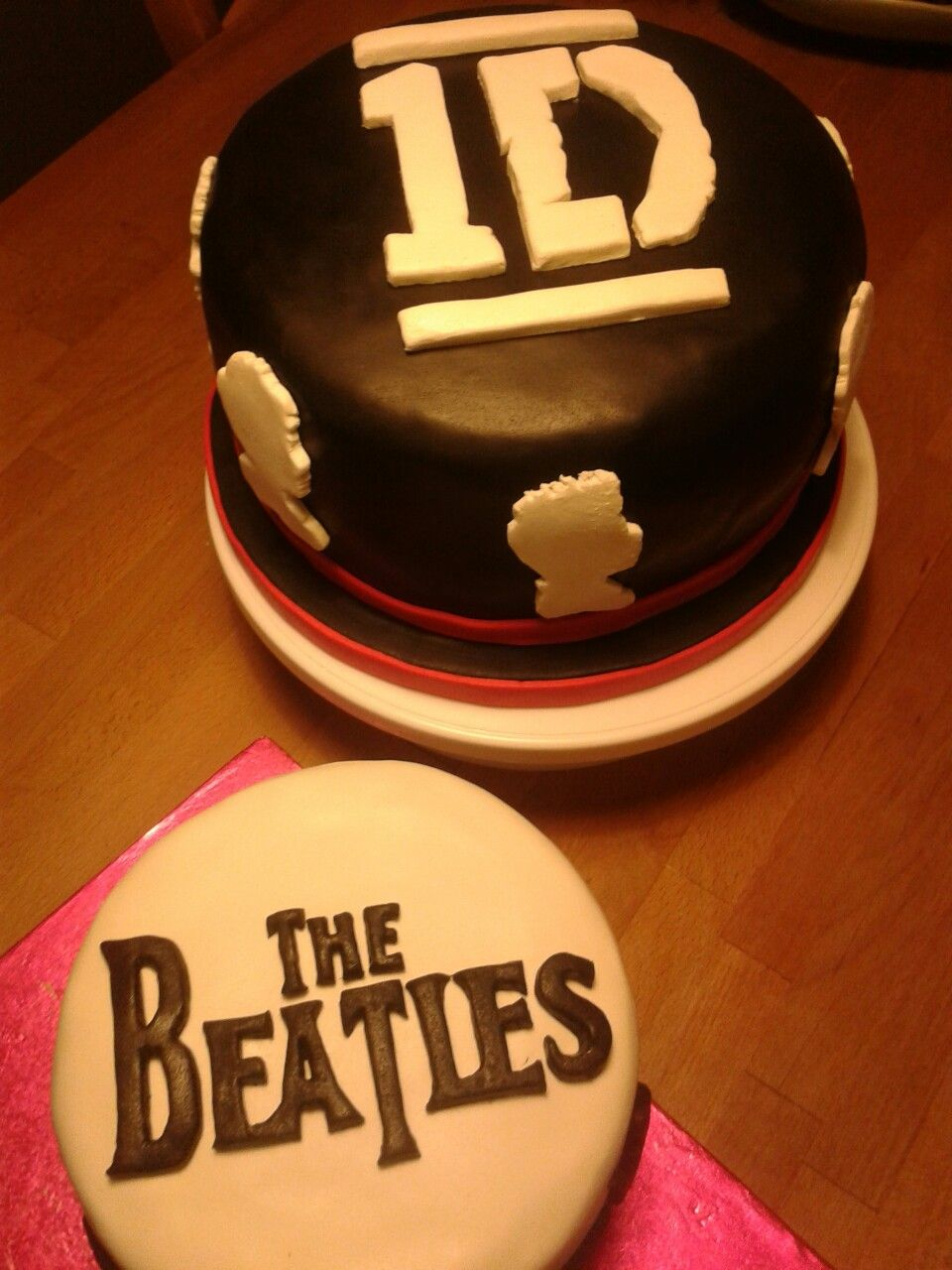 Beatles vs 1D Cake Grandfather vs Granddaughter Cakes Pinterest