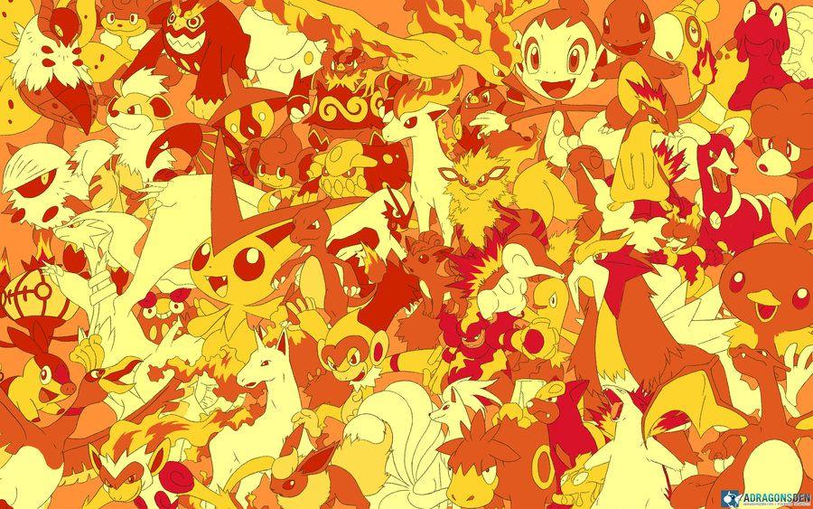 all fire pokemon wallpaper by lvstarlitsky on deviantart pokemon
