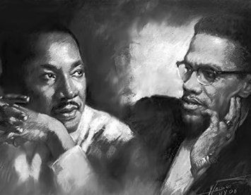 Malcolm X Martin Luther King Jr Poster Painting 100 Handmade Pastel Drawing By Artist Eugene Size 22 4 X28 Inch By Eugene S Portraits Amazon Fr Cuisine