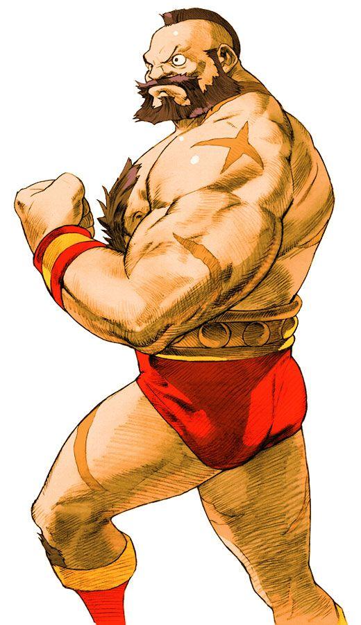 Zangief Characters Art Marvel Vs Capcom 2 Capcom Art
