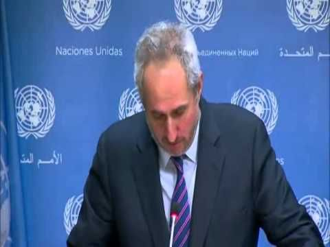 "UN: ""Mr. Gunness did not call for a boycott"" - YouTube. UNwatch december 2014"