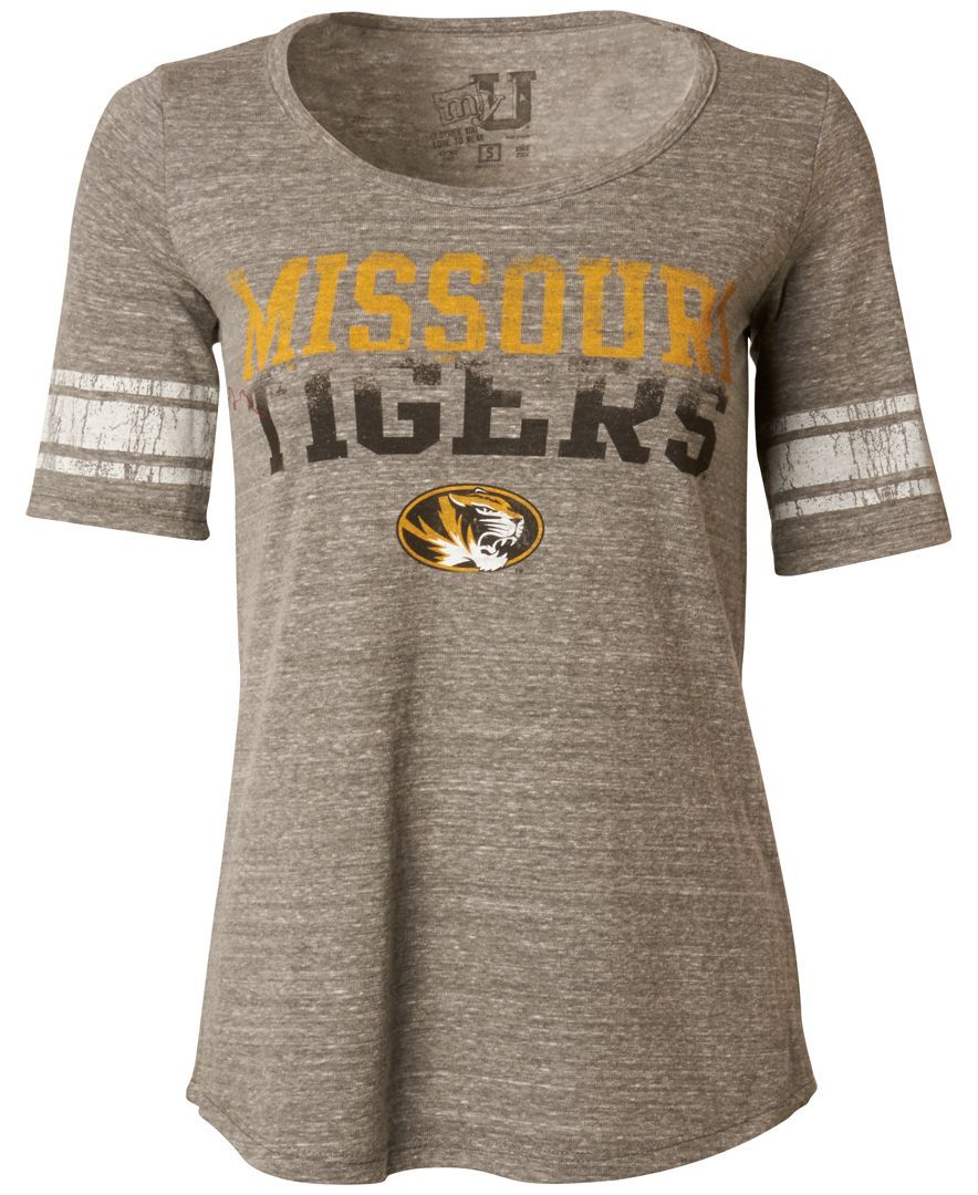 Myu Apparel Women's Short-Sleeve Missouri Tigers Sequin T-Shirt