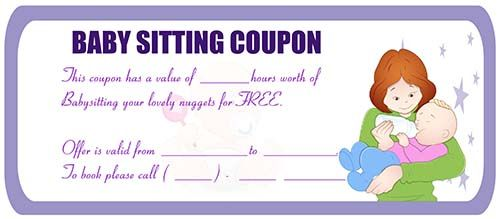Babysitting coupon babysitting coupon templates pinterest babysitting coupon maxwellsz