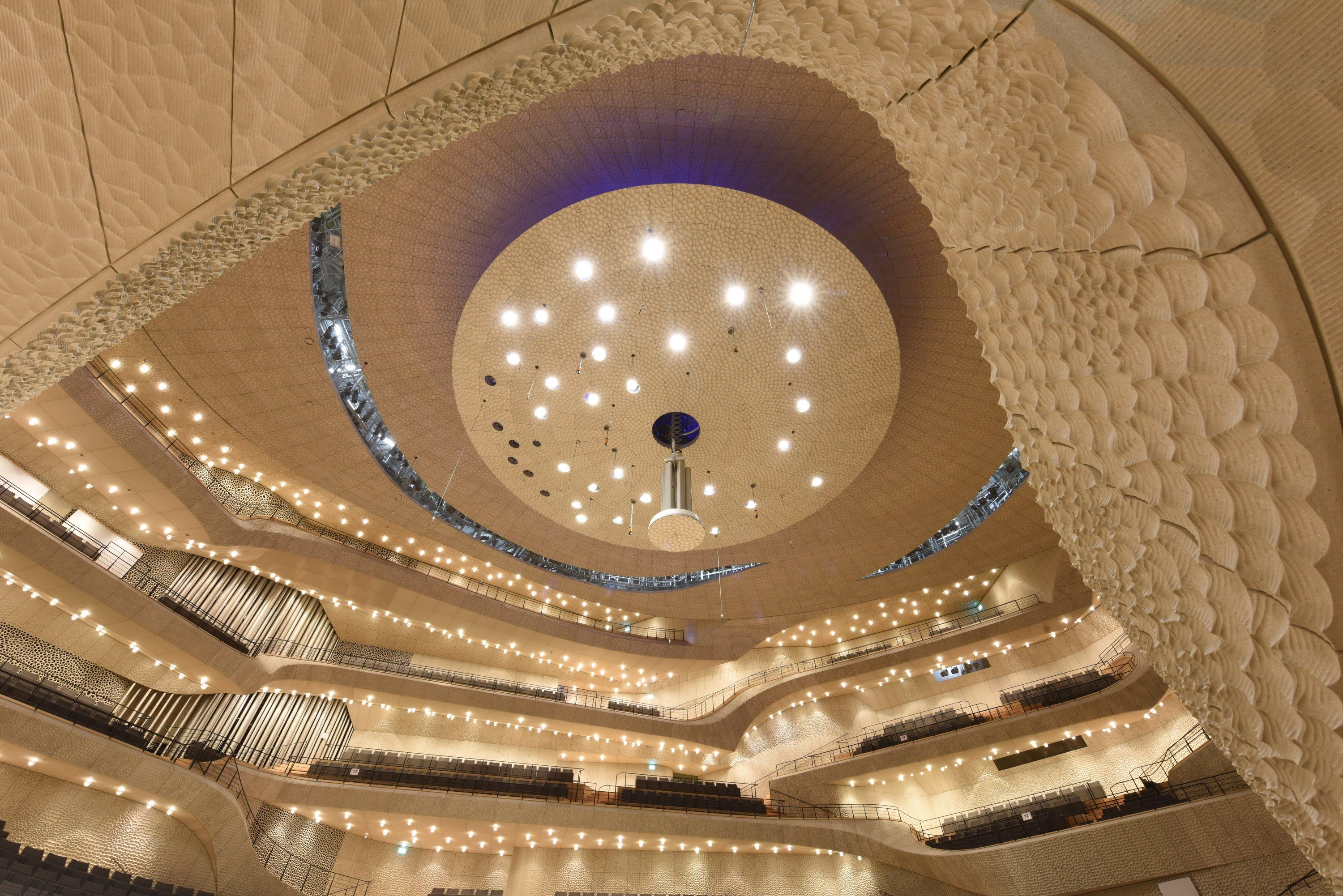 Herzog And De Meuron 39 S New Philharmonic In Hamburg Germany Is An Impressive Feat Of Technology Algorithm Design Concert Hall Light Architecture