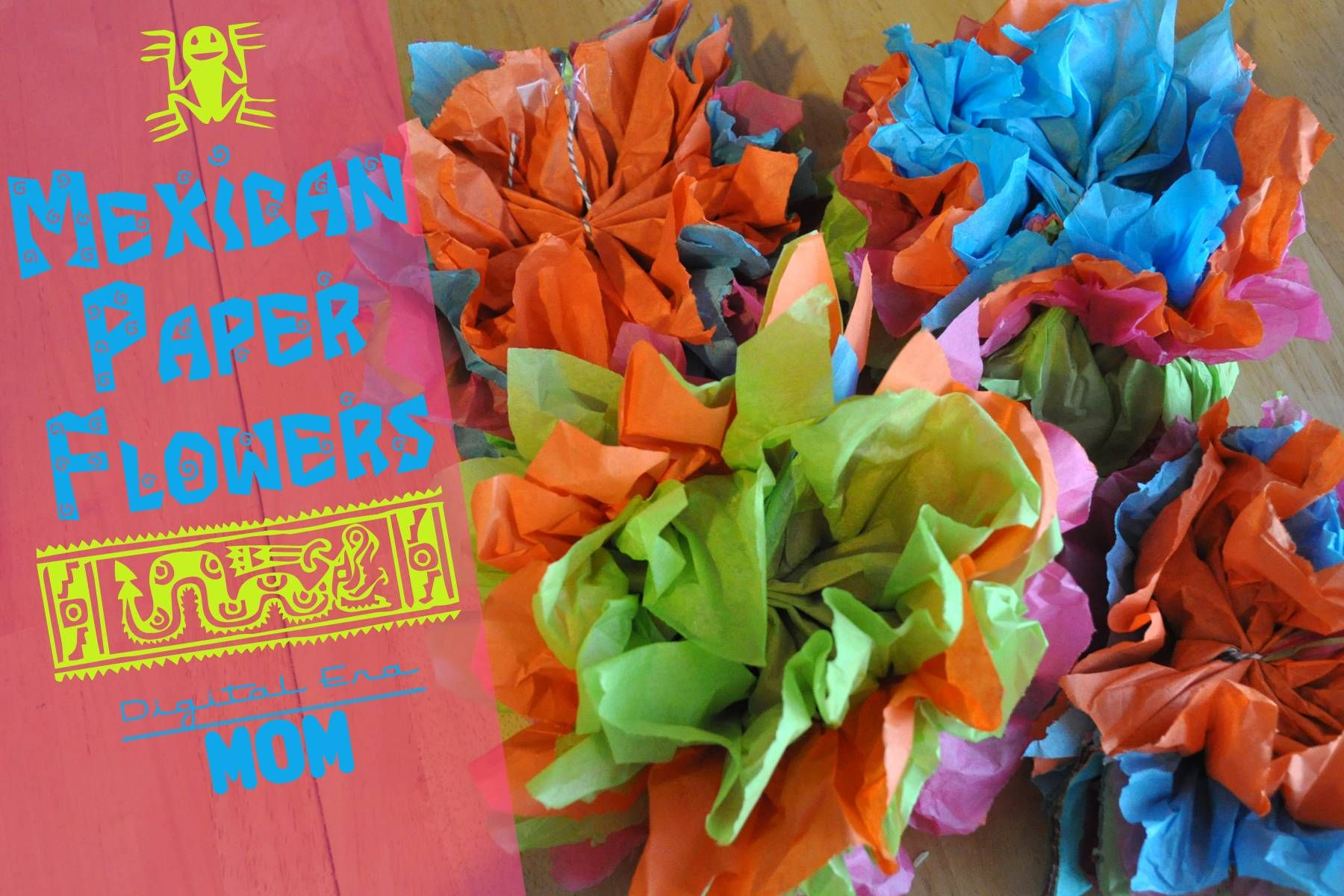 Mexican paper flowers pinterest diy birthday mexicans and these mexican paper flowers are perfect for easy diy birthday party decorations because they can be customized to any color scheme mightylinksfo