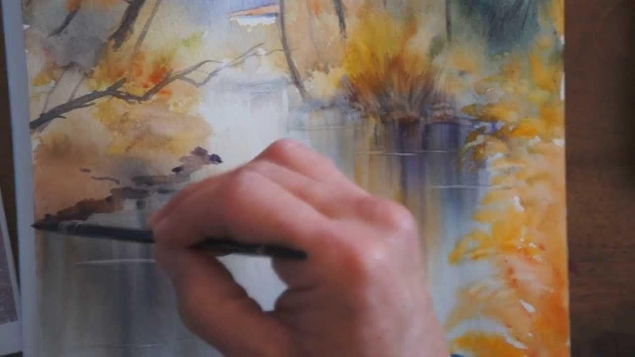 Demo Aquarelle Reflets De Decembre Watercolor Tutorial