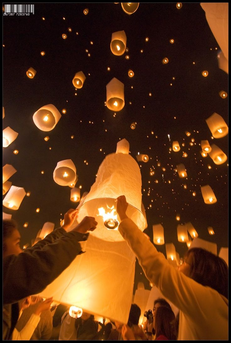 lanterns, chiang mai, thailand, 2007 Floating lanterns