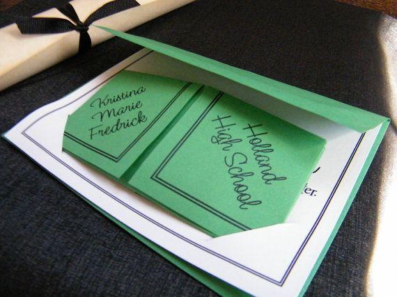 Cootie Catchers Origami Graduation Announcements / by