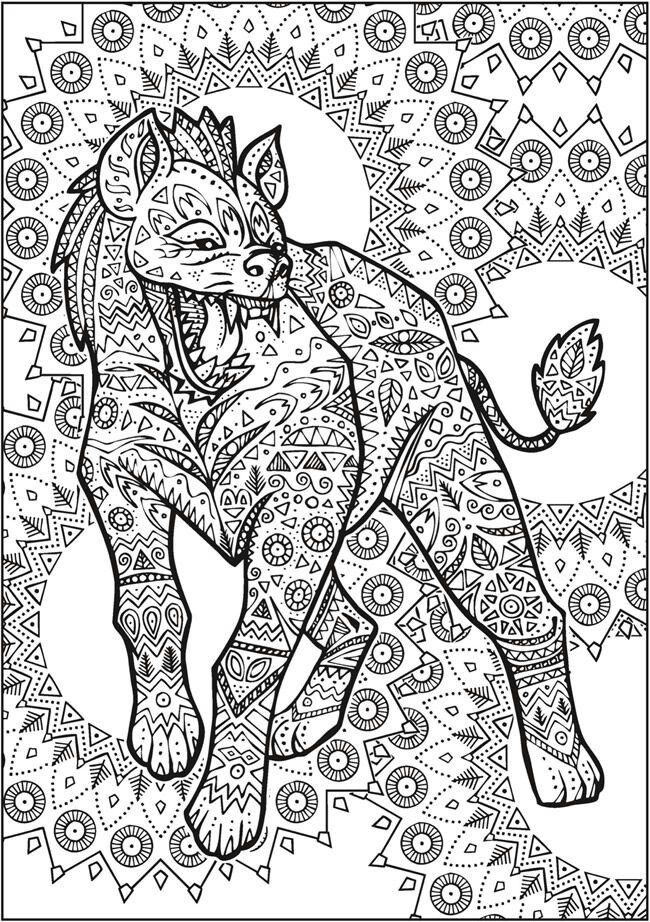Welcome To Dover Publications Creative Haven Untamed Designs Coloring Book