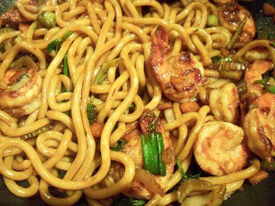 Le Canard Du Mékong : Yaki udon aux crevettes