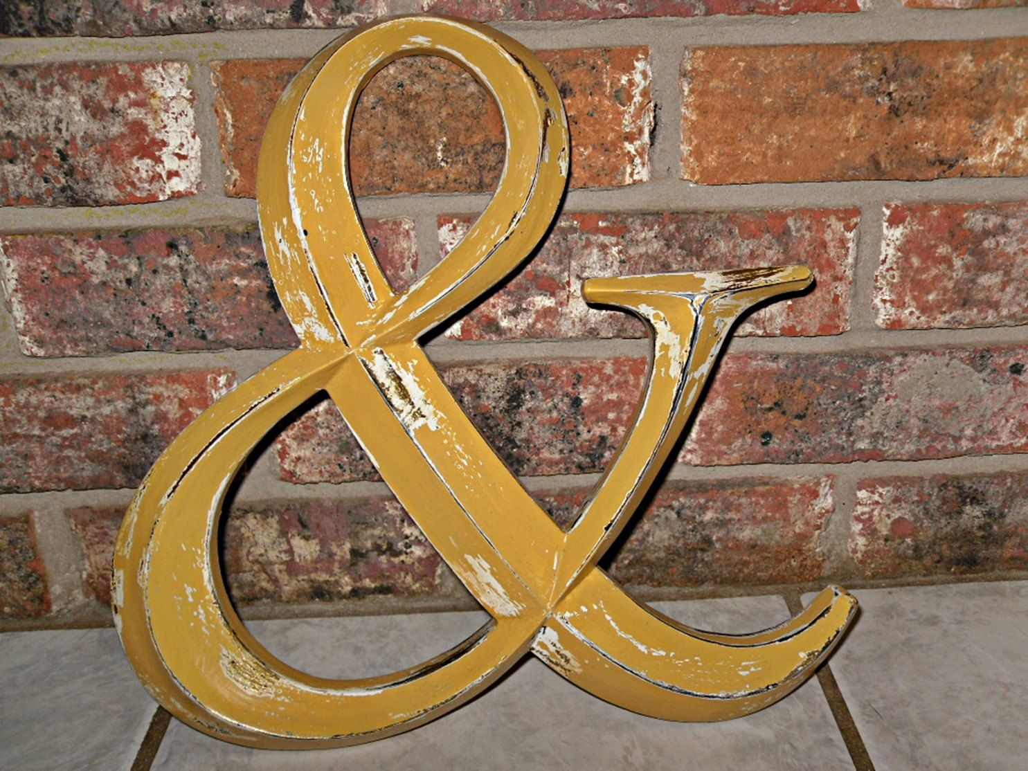Ampersand Sign Mustard Yellow Large Wall Ampersand Photo