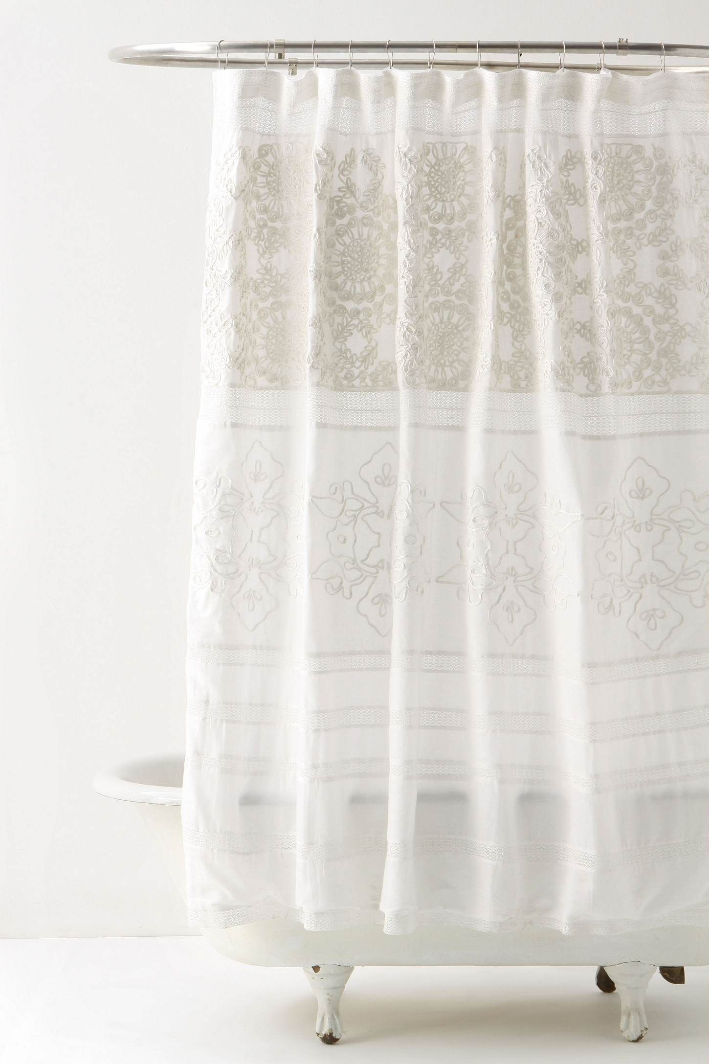 Anthropologie for the home pinterest bathroom curtains and shower