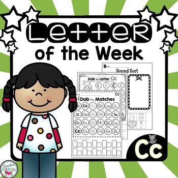 Letter Of The Week  Cc This Fun And Engaging Packet Includes