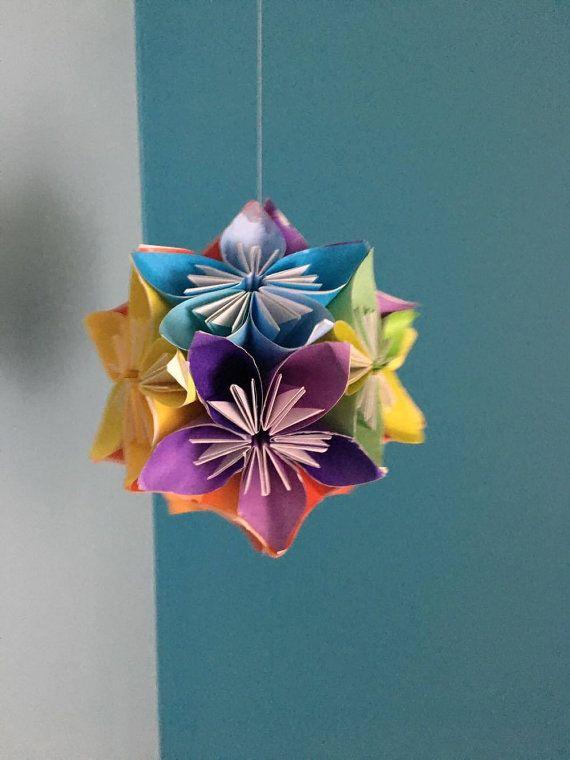Fiori Kusudama.Palla Kusudama Fiore Di Thirdiiicreations Su Etsy Origami Fiori