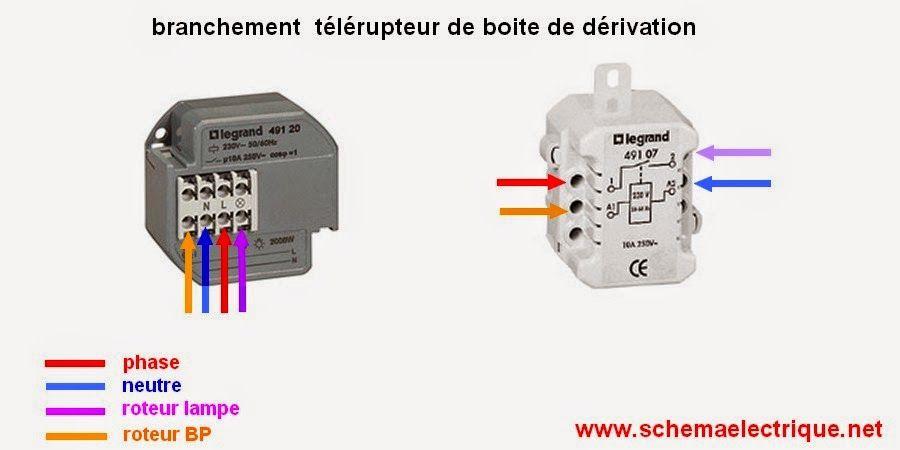 Sch ma electrique t l rupteur unipolaire branchement d - Schema electrique telerupteur ...