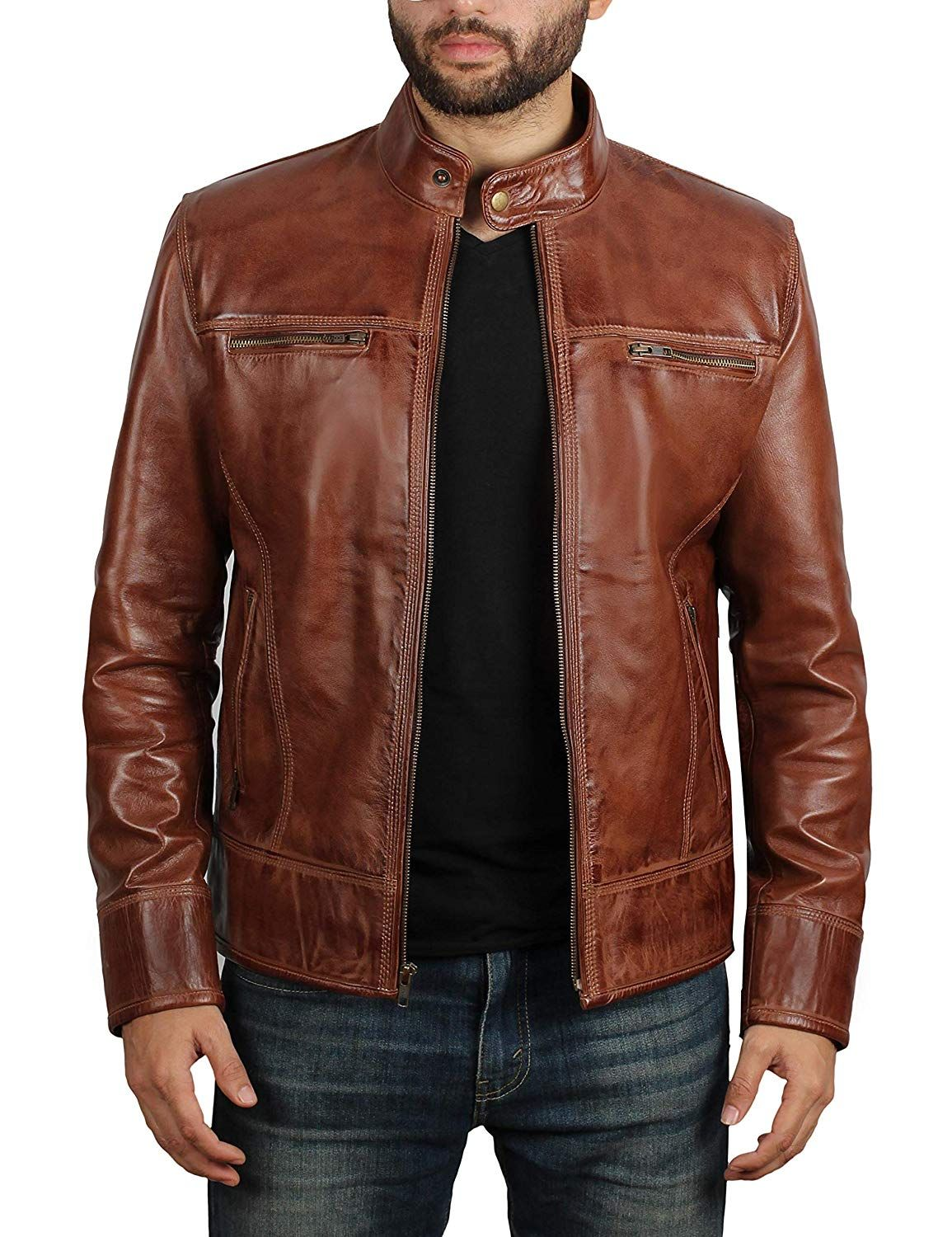 100 Genuine Lambskin Leather PREMIUM QUALITY This Mens