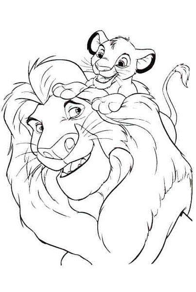 coloriage roi lion - Le Roi Lion Coloriage