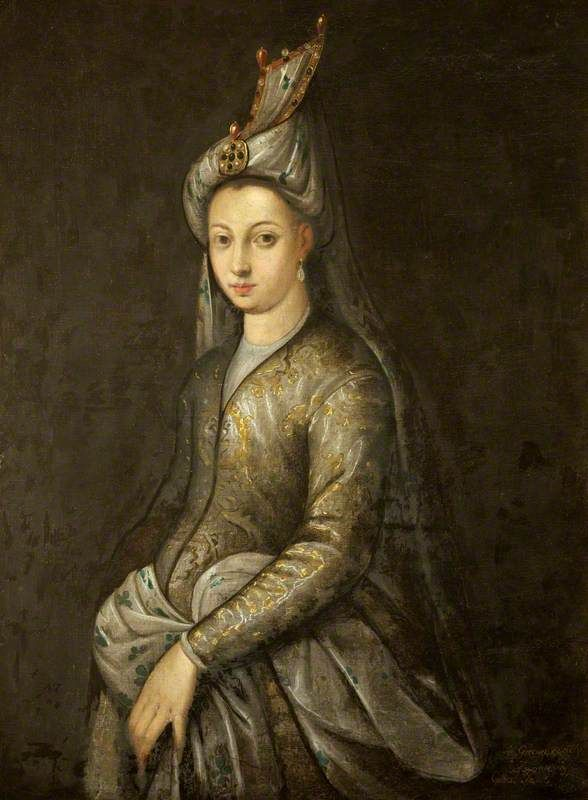 Portrait of Mihrimah Sultan, the daughter of Suleiman the ...