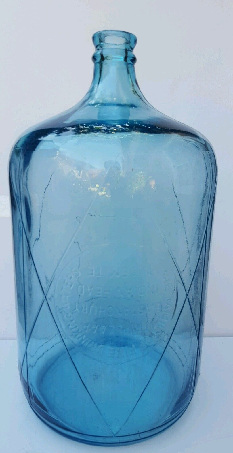 vintage blue glass 5 gallon jug water bottle bastanchury indian head yosemite ebay