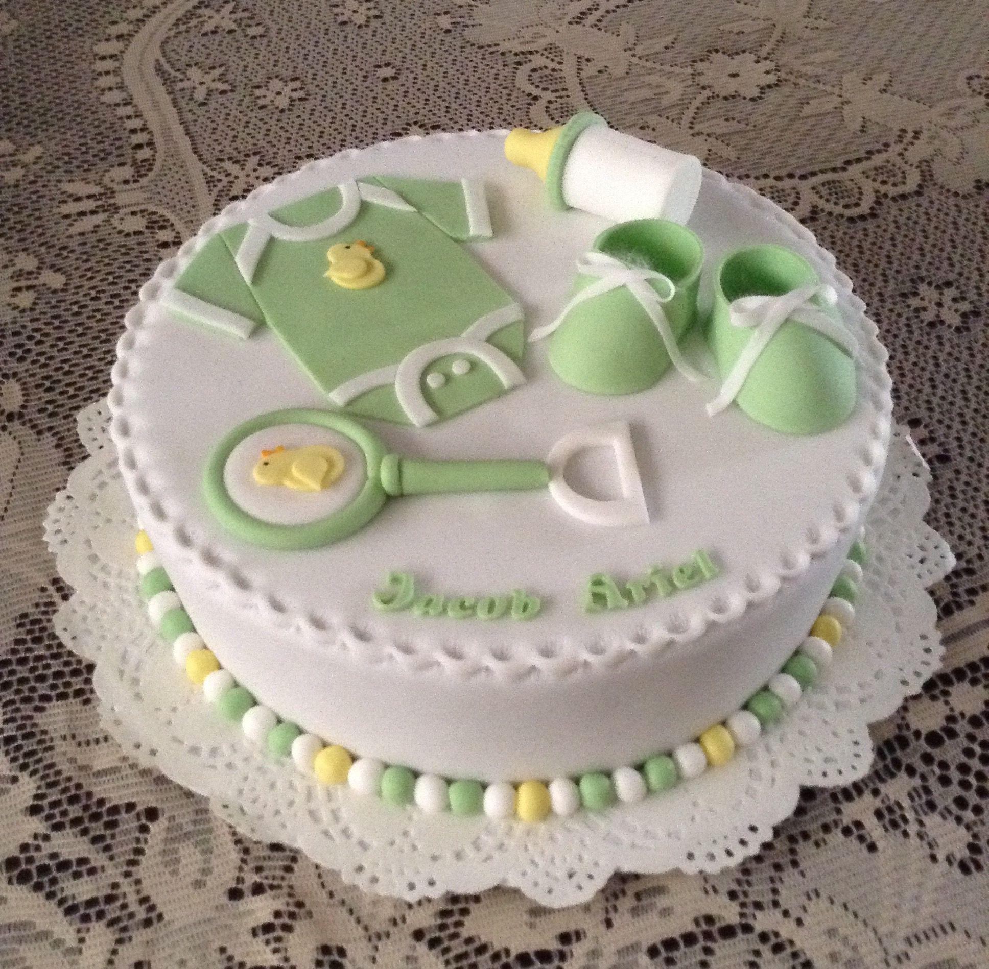 Torta para Baby shower de ni±o 30 porciones Tortas