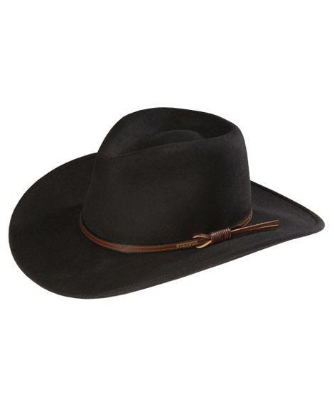 111125a79fcd9 Stetson Bozeman Wool Felt Crushable Cowboy Hat