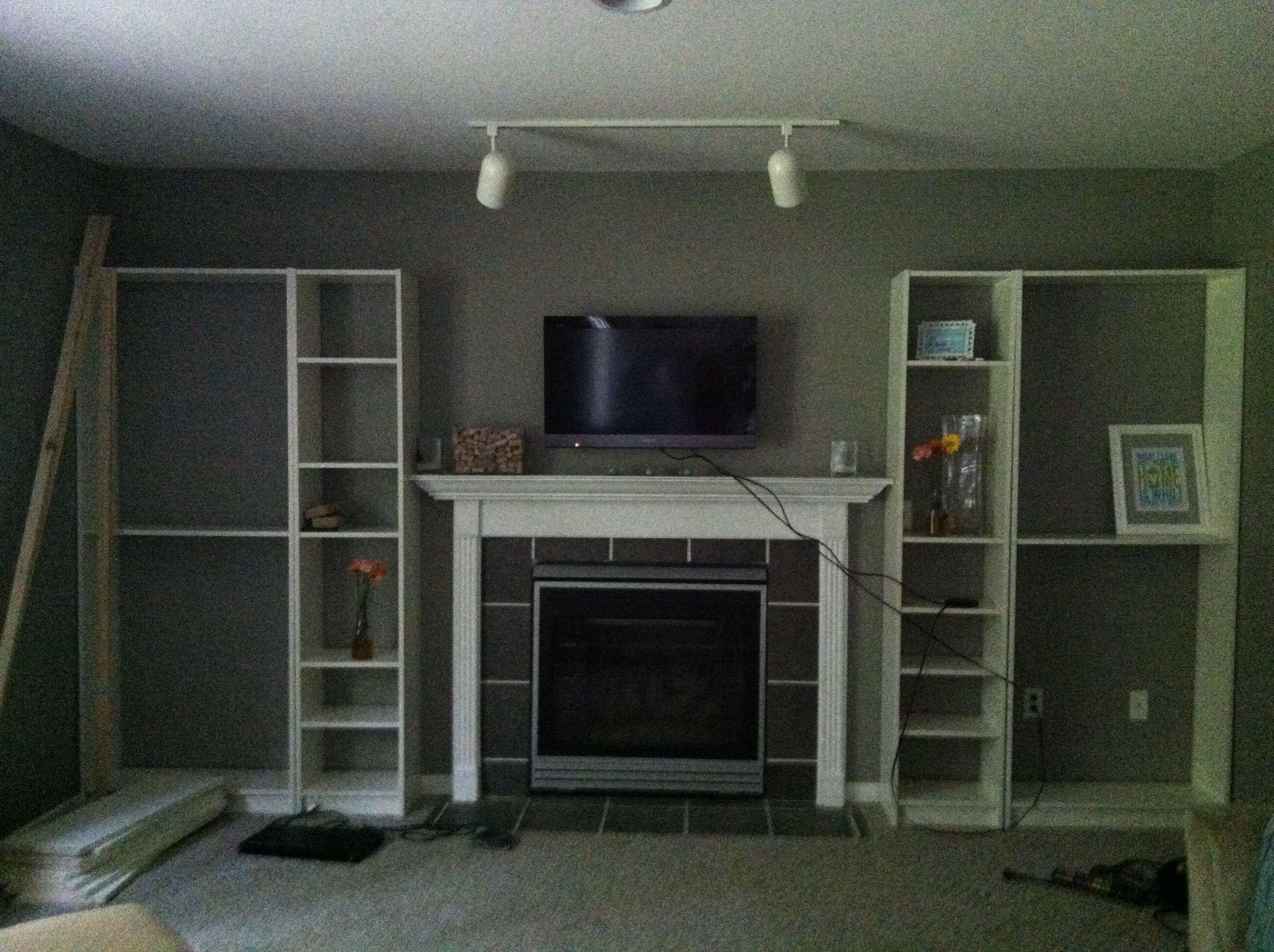Faux Built In Billy Bookcase Ikea Hack Bookshelves