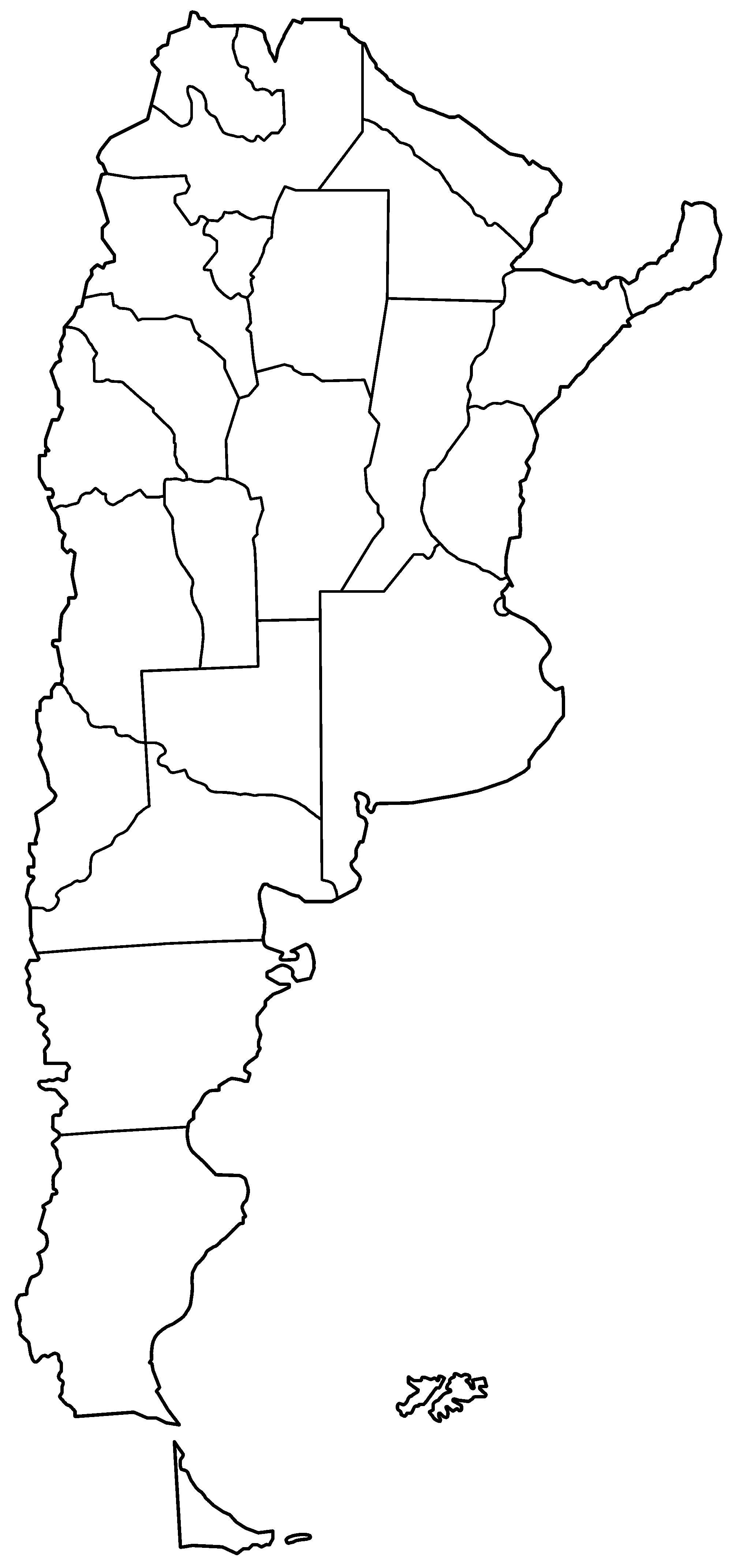 Argentina Provinces Blank Large Map M Pinterest Argentina - Argentina map outline