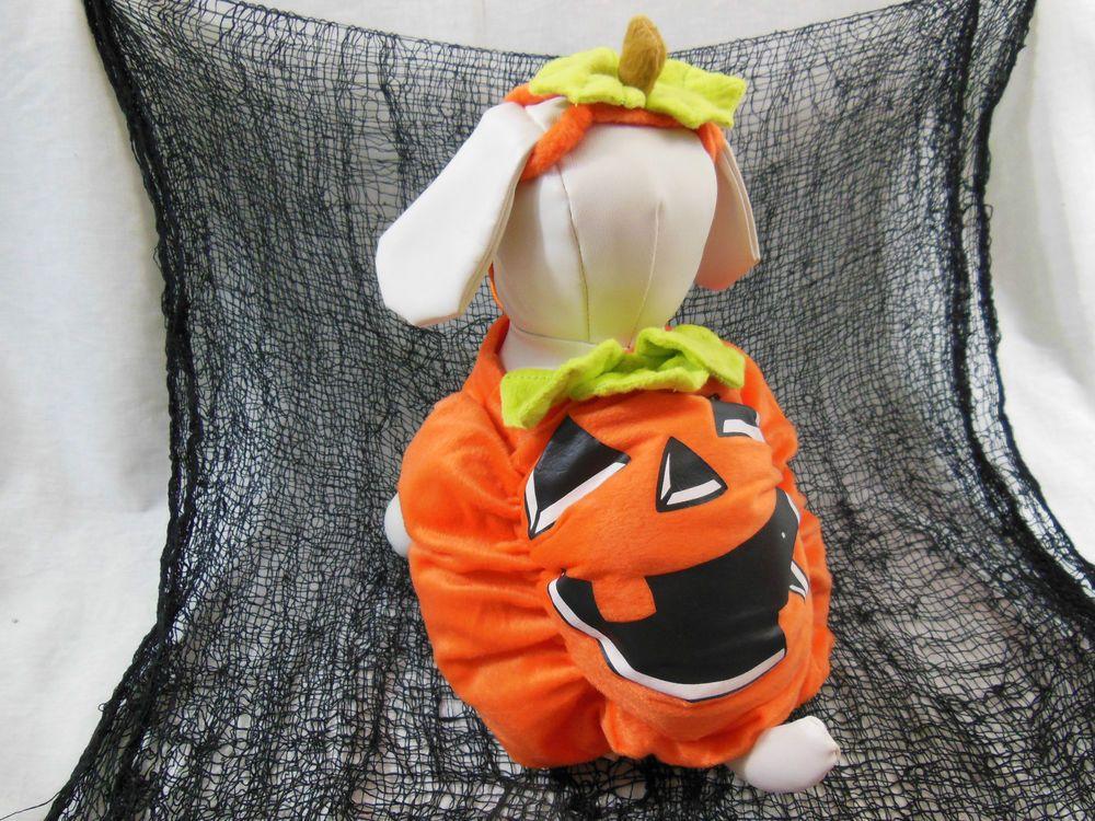 Halloween Dog Costume Happy Pumpkin Super Stuffed Plush Orange