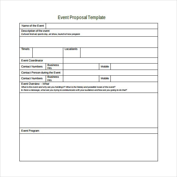 Sample Event Proposal Template - 15+ Free Documents in PDF, Word - free event proposal template