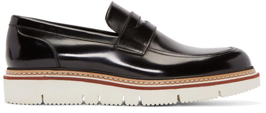 298aa8d4e47 JIMMY CHOO Black Leather Leon Penny Loafers.  jimmychoo  shoes  flats