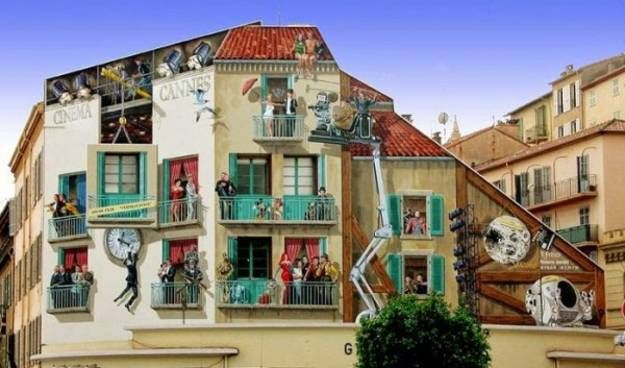 Elegant Colorful Wall Murals And Amazing Painting Ideas Decorating Buildings Facades  In France