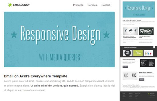 Responsive Template Email On Acid Template Web Pinterest - Email on acid templates
