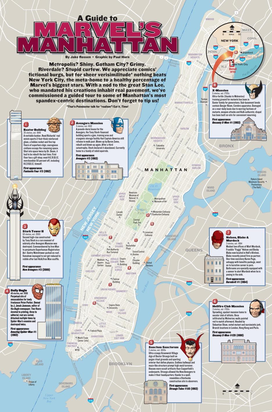 Map Of Marvel Manhattan  Fictional Maps Graphs  Pinterest