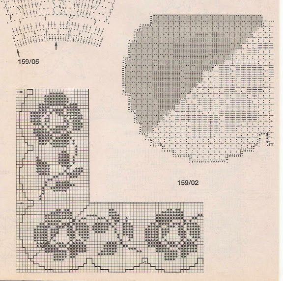 crochet - bicos/barrados com cantos - corners - Raissa Tavares - Picasa Web Album