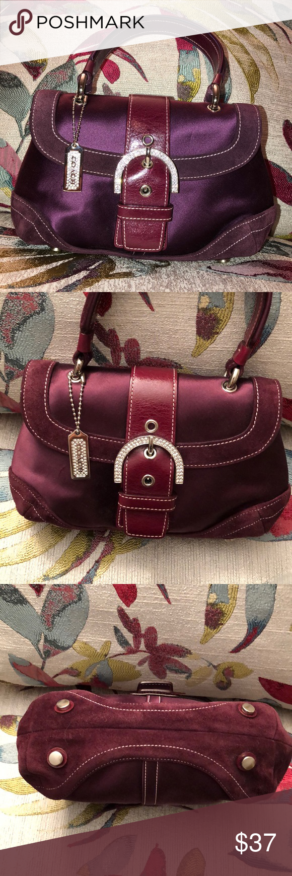 Coach hand bag Beautiful preowned never used Coach hand bag. Very nice  Burgundy wine suede 5b7a32b097