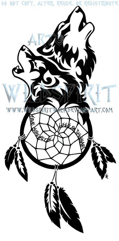 Dream catcher and wolf tattoo <3 | Design Inspiration | Pinterest ...