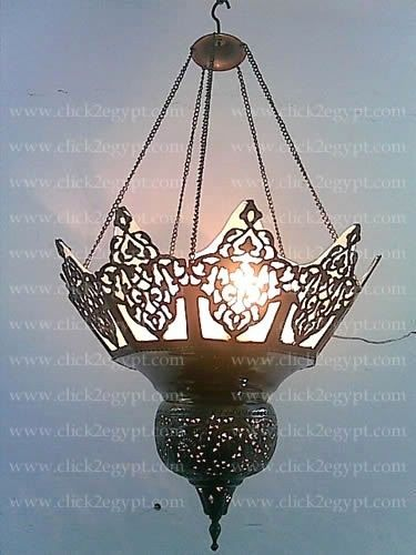 br217 vintage reproduction brass moroccan chandelier lined with