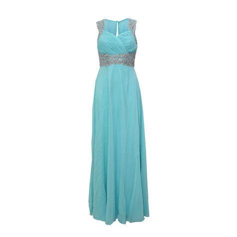 Mint Mesh Back Detail Long Dress | Wedding and Weddings