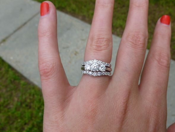 Why Am I Obsessed With This Combo Bridal Rings Diamond Wedding Bands 3 Stone Engagement Rings
