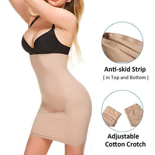 a28681145e Ysabeloom Women s Tummy Control Half Slips Under Dresses Slimming Shapewear  Underskirt